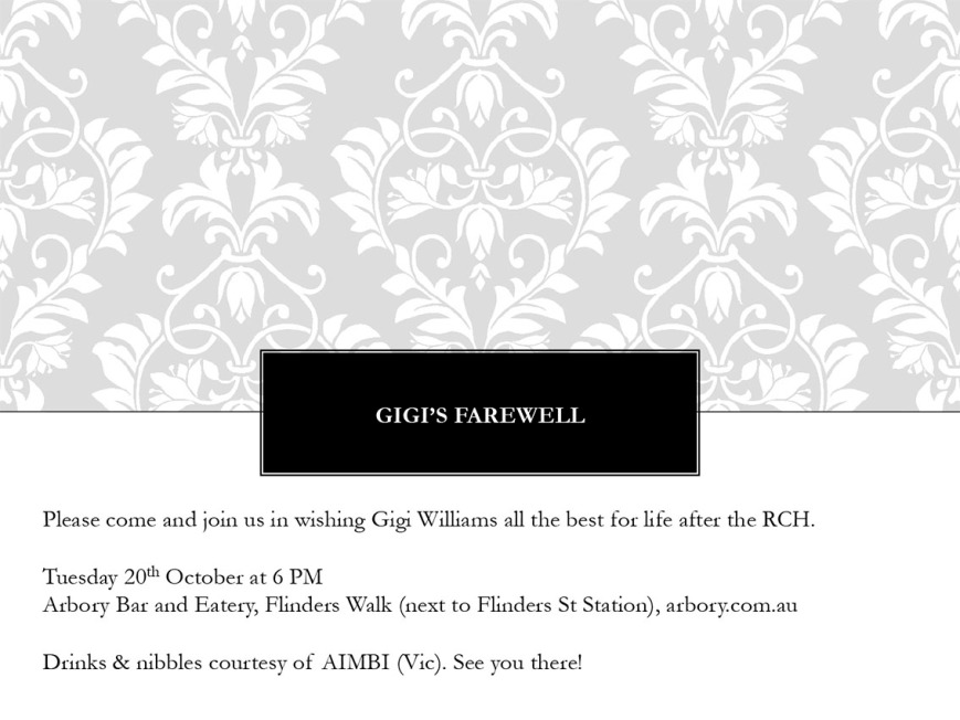 Invite for Gigi