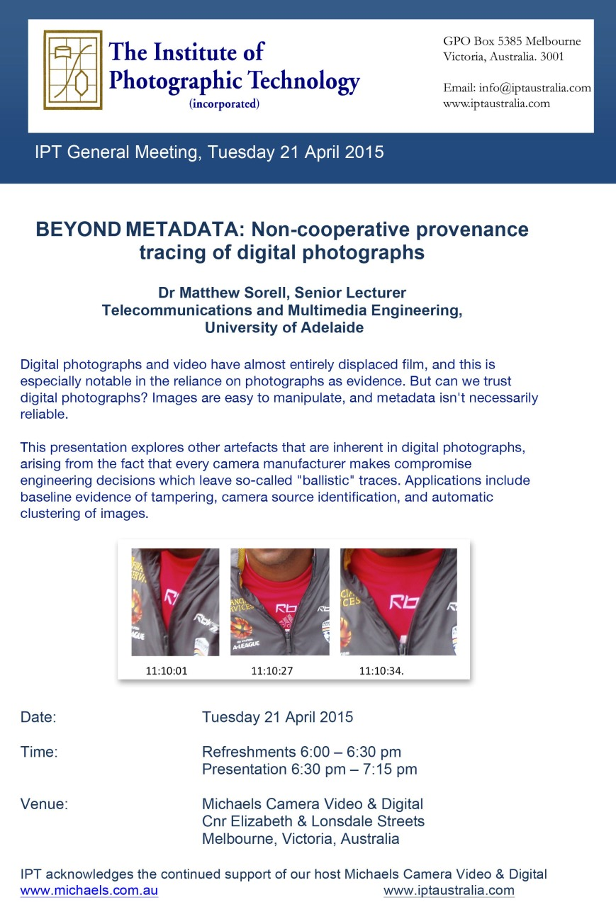 IPT General meeting April 2015
