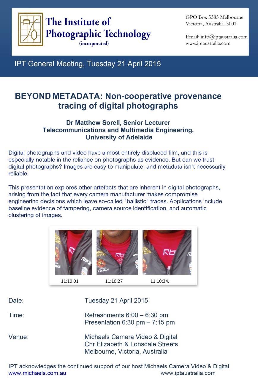 IPT General meeting April 2015