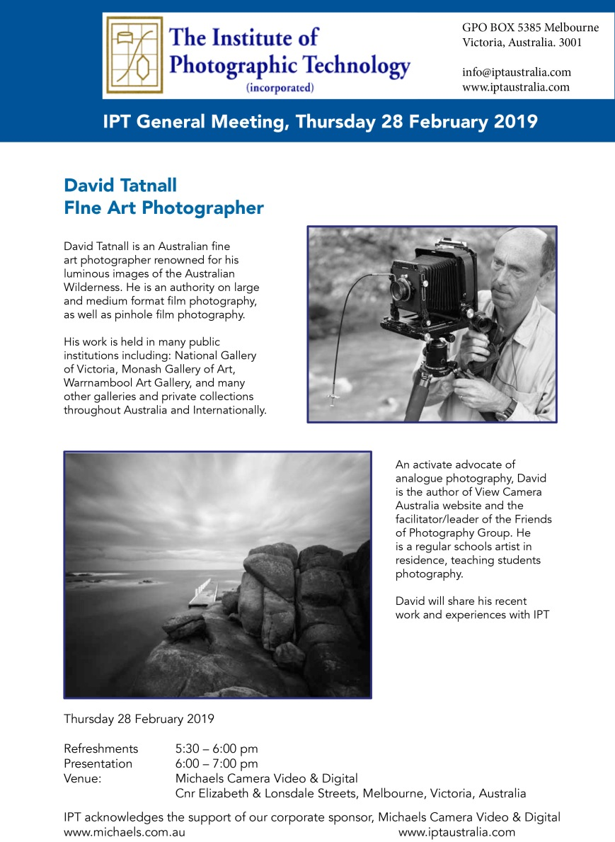 IPT February general meeting 2019